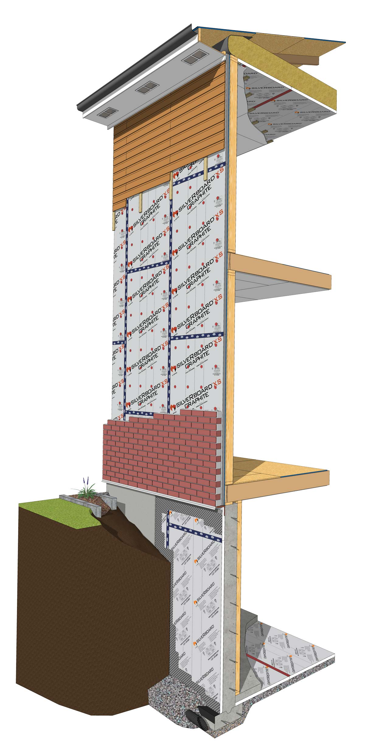 SilveRboard Wall Segment