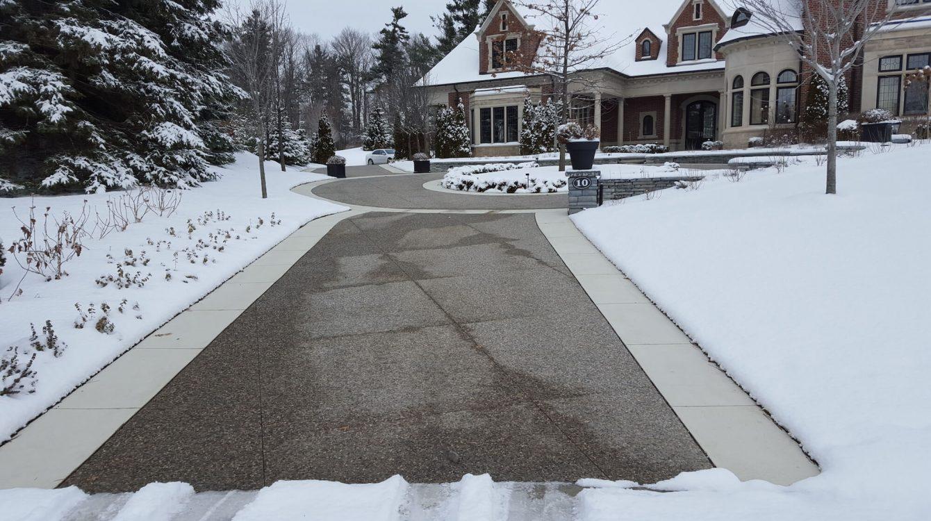 Snow Melt Driveway in Ontario