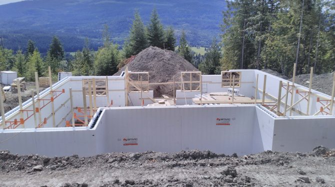 ICF Foundation for a Home in British Columbia