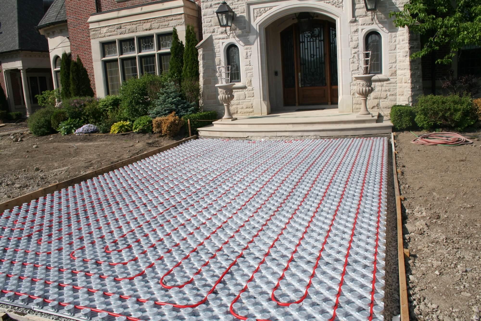 driveway  u0026 walkways  outdoor radiant heating panels