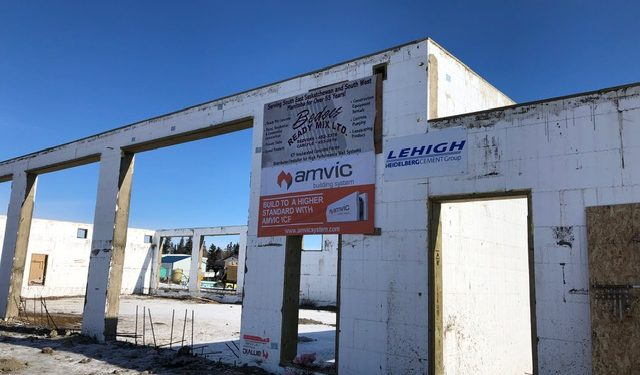 First Amvic ICF Fire Hall in Saskatchewan Under Construction!