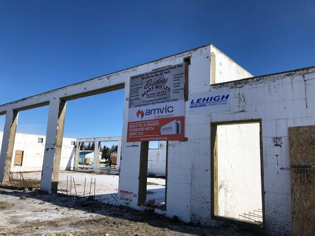 First Amvic ICF Fire Hall in Saskatchewan Under Construction!